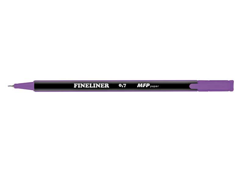 Popisovač FL 0,7mm fialový trojhranný