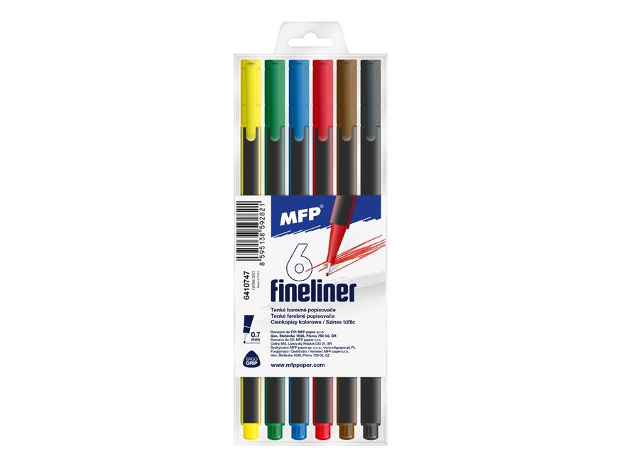 Popisovač FL 6 farieb 0,7mm trojhranný