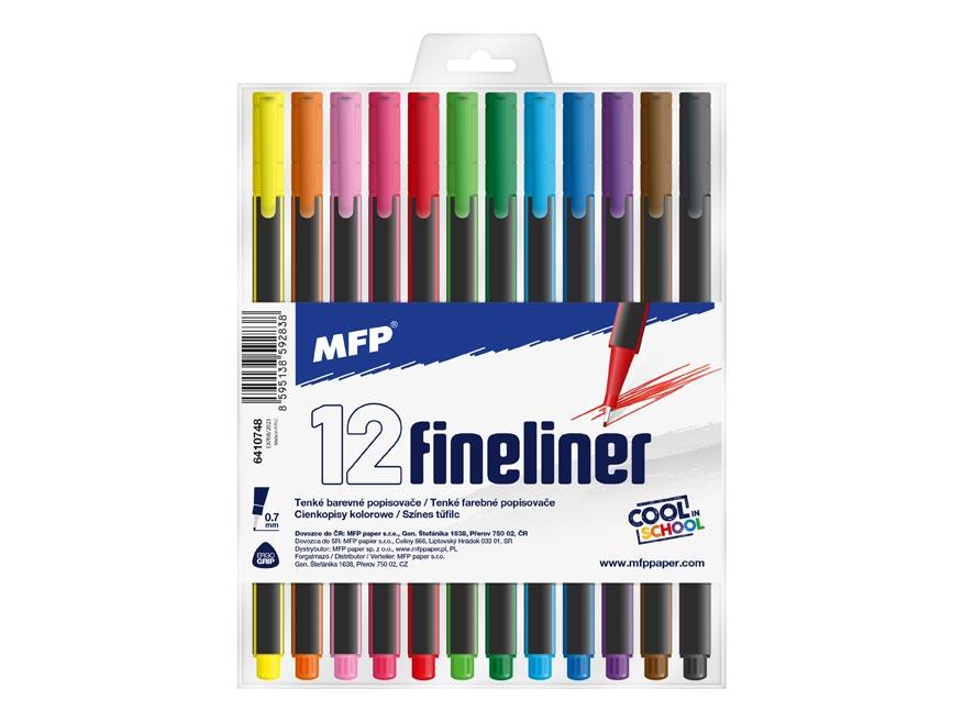 Popisovač FL 12 farieb 0,7mm trojhranný