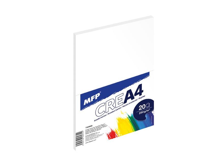 Kresliaci kartón MFP A4 20 listov 250g