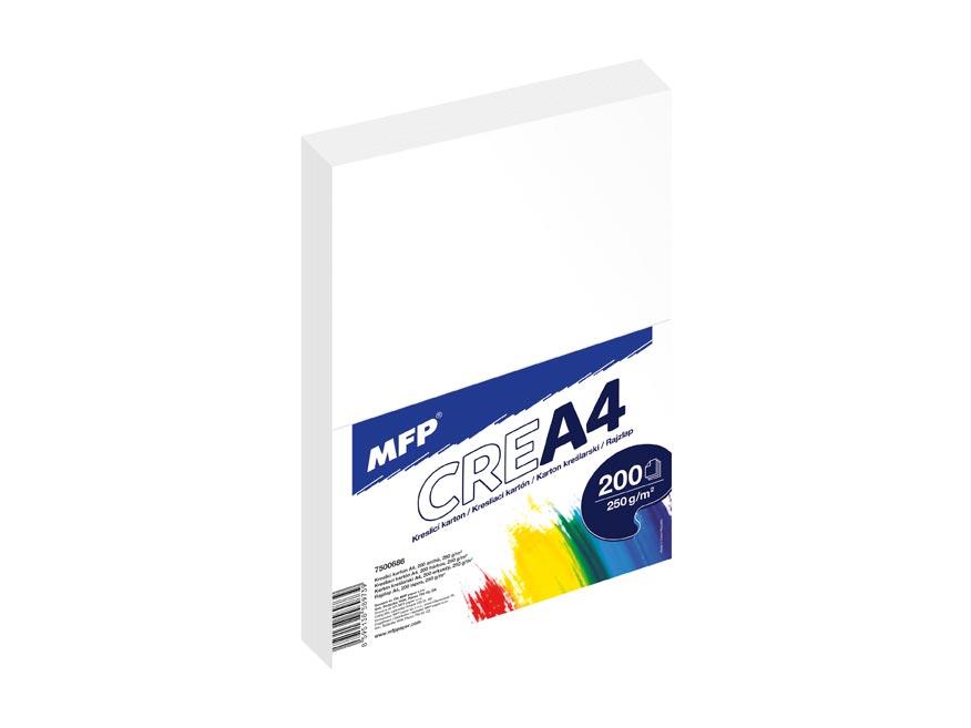 Kresliaci kartón MFP A4 200 listov 250g