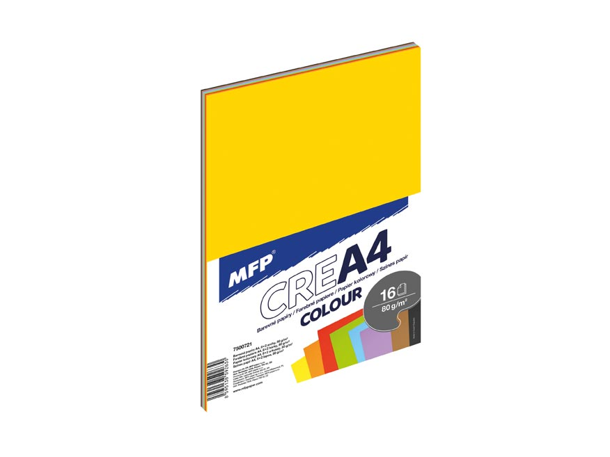 zložky farebných papierov 16 listov (8 farieb) 7500721
