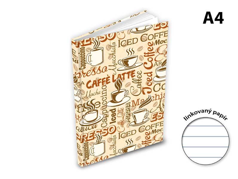 Záznamová kniha A4 MFP 100l/linka ZL4104- 055