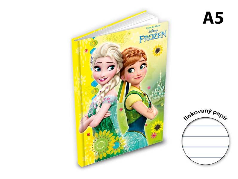 záznamová kniha A5 100l/linka ZL5104- Y04 Disney (Frozen) 7500848