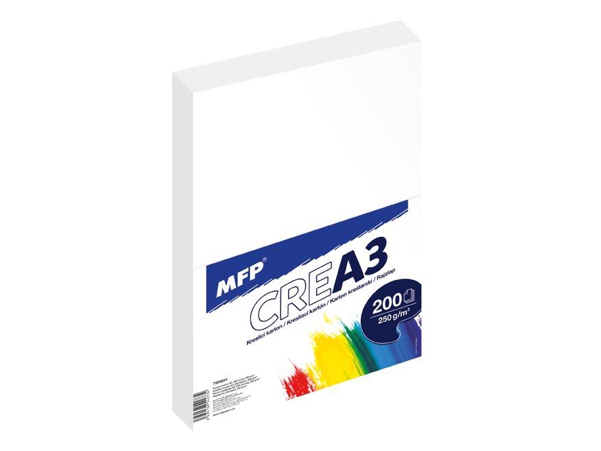 Kresliace kartón MFP A3 200 listov 250g