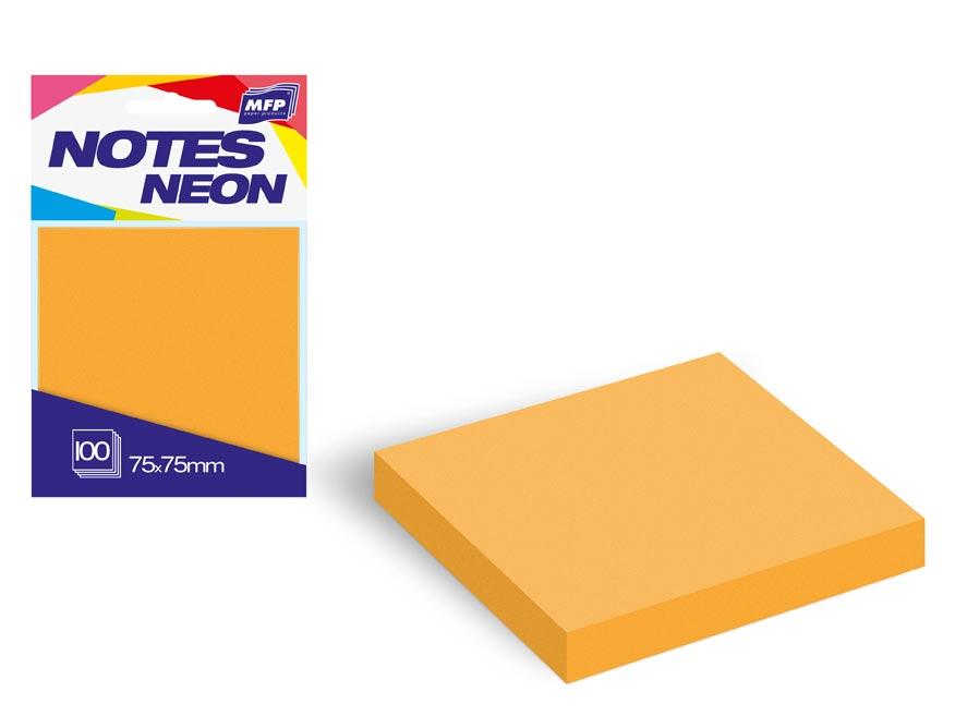 bloček samolepiaci 75x75mm 100 listov oranžový neón 7500890