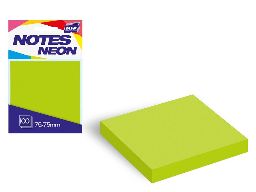 bloček samolepiaci 75x75mm 100 listov zelený neón 7500891