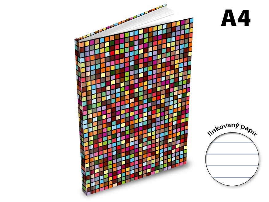 Záznamová kniha A4 MFP 100l/linka ZL4104