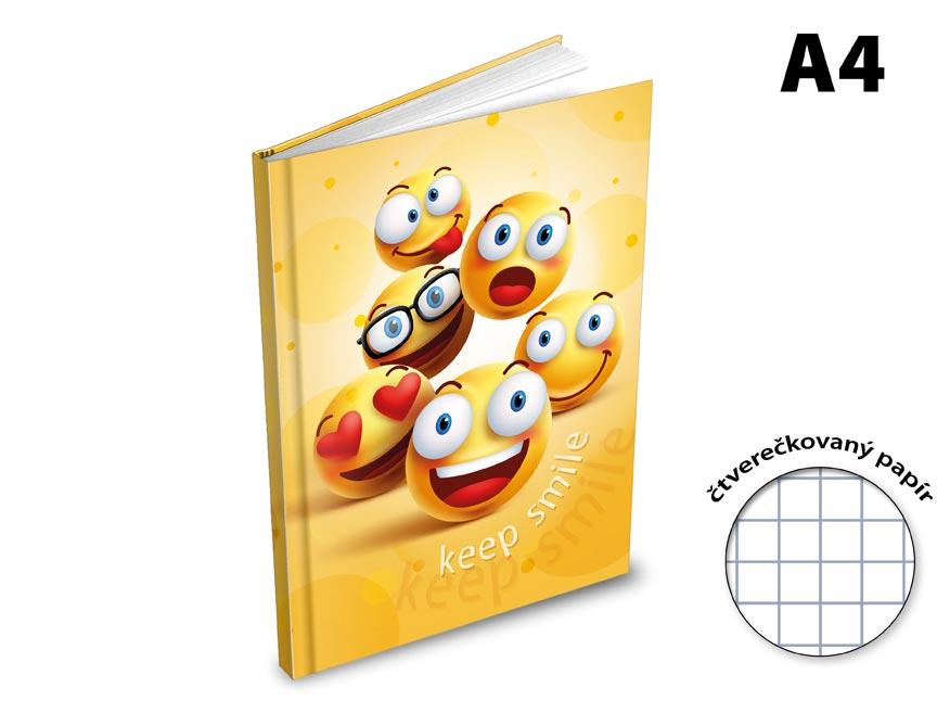 Záznamová kniha A4 MFP 100l/štvorček  ZL4105