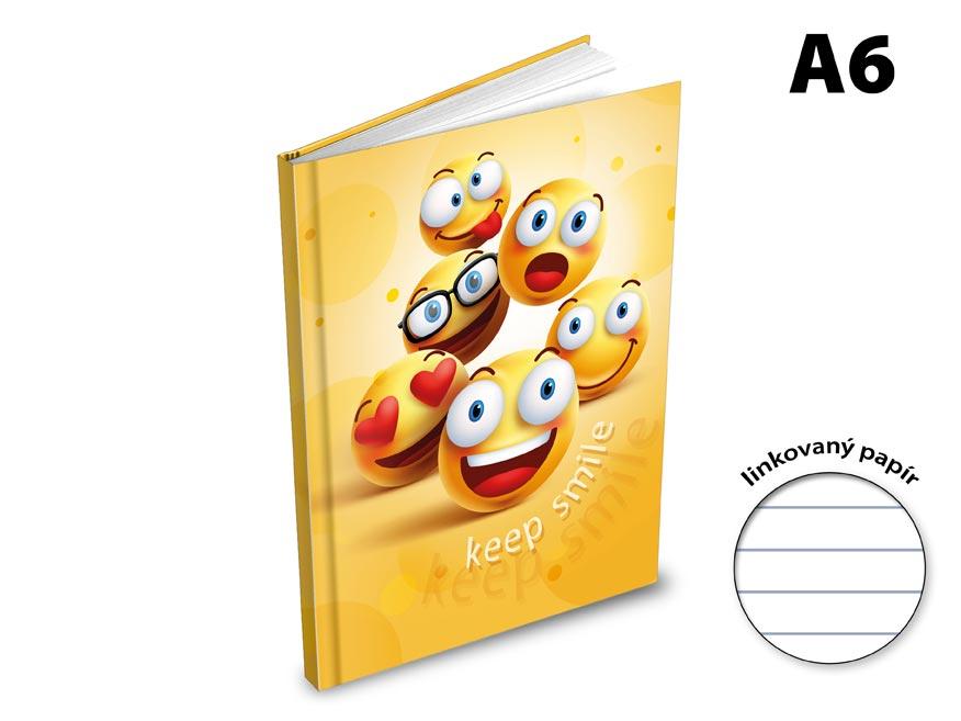 Záznamová kniha A6 MFP 100l/linka ZL6104