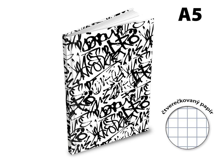 Záznamová kniha A5 MFP 100l/štvorčeková ZL5105