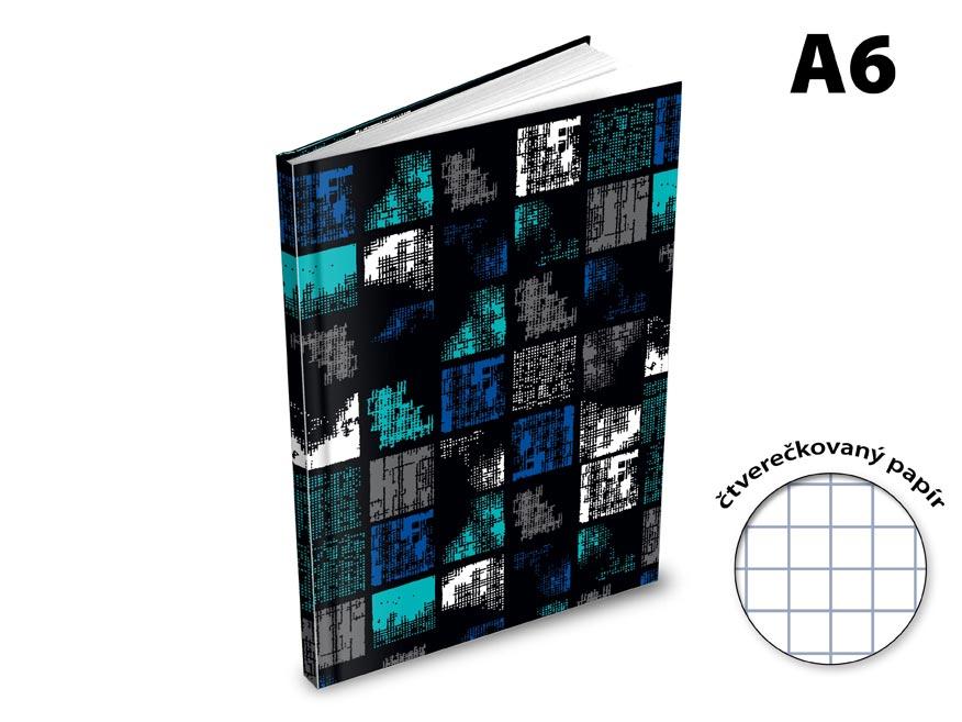 Záznamová kniha A6 MFP 100l/štvorčeková ZL6105