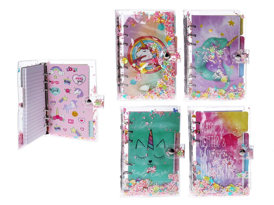 Notes W010916 13x19,5, 80 listov jednorožec, flitre