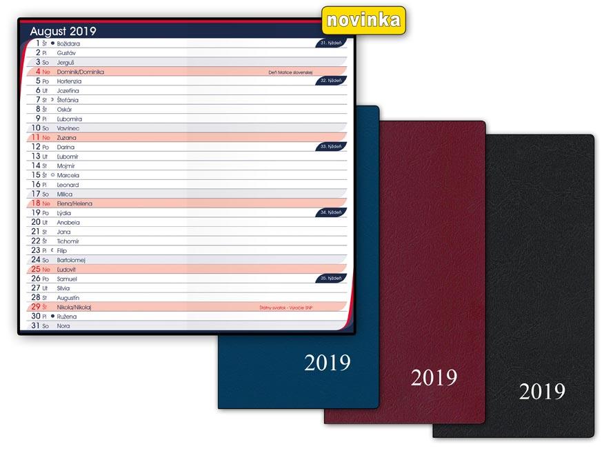 SK Diár 2019 M105/PVC mesačný