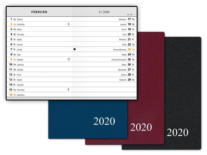 SK Diár 2020 M102/PVC mesačný