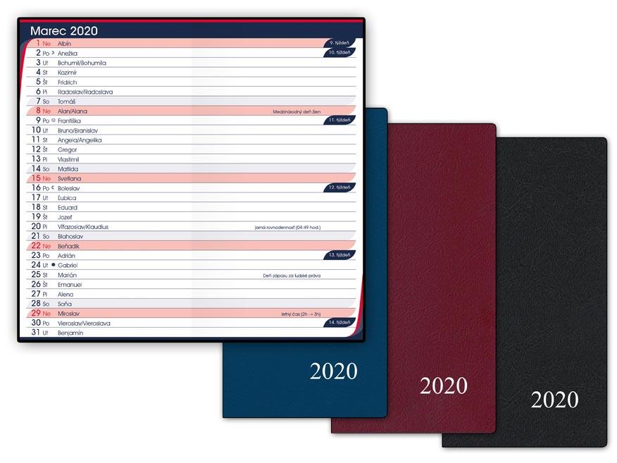 SK Diár 2020 M105/PVC mesačný