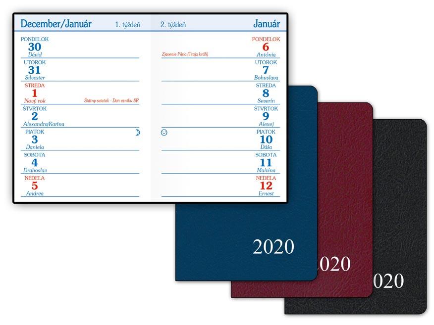 SK Diár 2020 T101/PVC týždenný