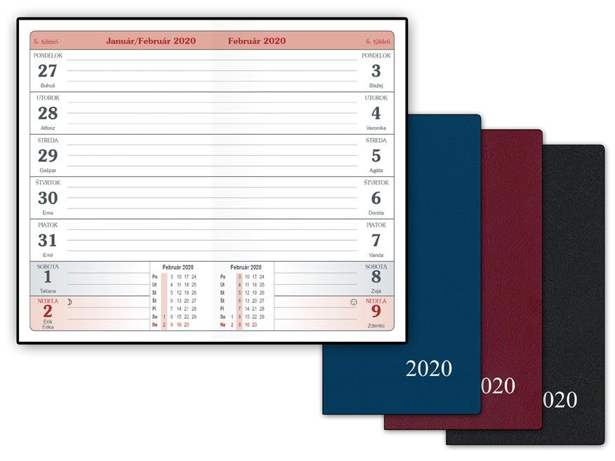 SK Diár 2020 T103/PVC týždenný