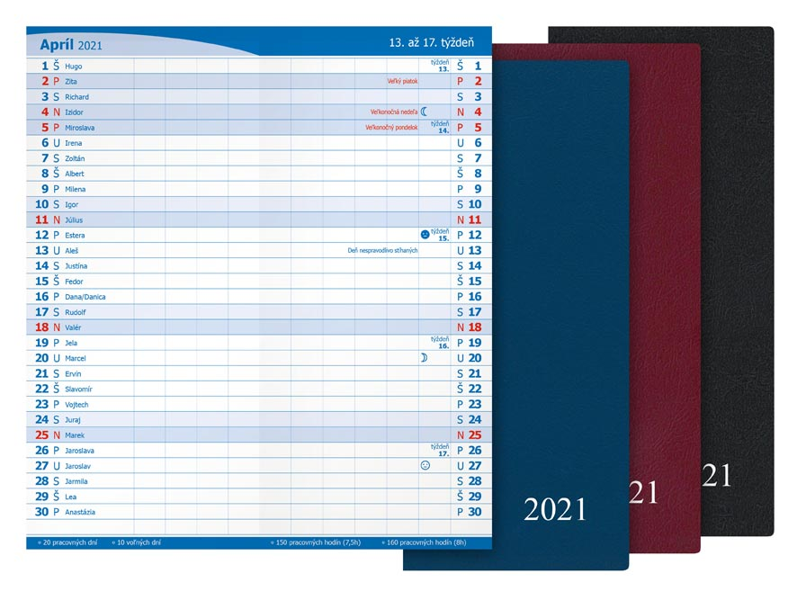 sK Diár 2021 M101/PVC mesačný 7780960