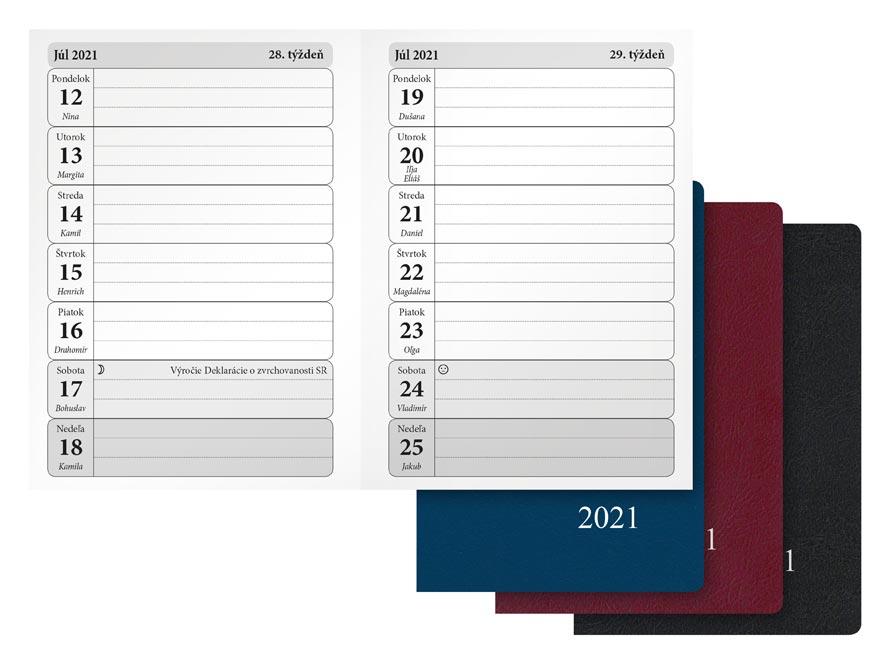 sK Diár 2021 T102/PVC týždenný 7780964