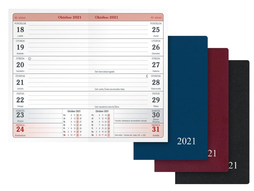 sK Diár 2021 T103/PVC týždenný 7780965