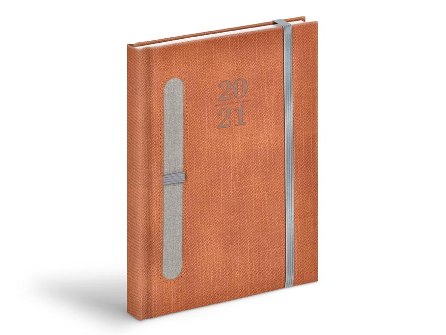 Diár 2021 D801 PU brown / grey - na pero