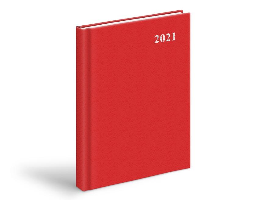Diár 2021 D801 PVC Red