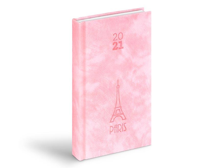 diár 2021 D802 PU pink 90x170 mm 7781001