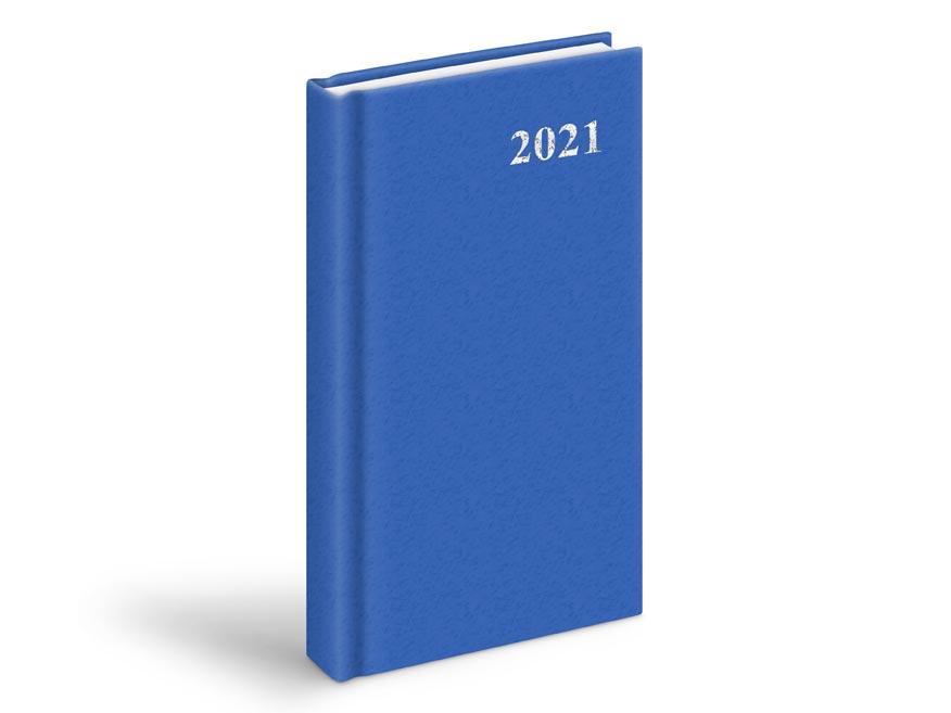 diár 2021 D802 PVC Blue 90x170 mm 7781007