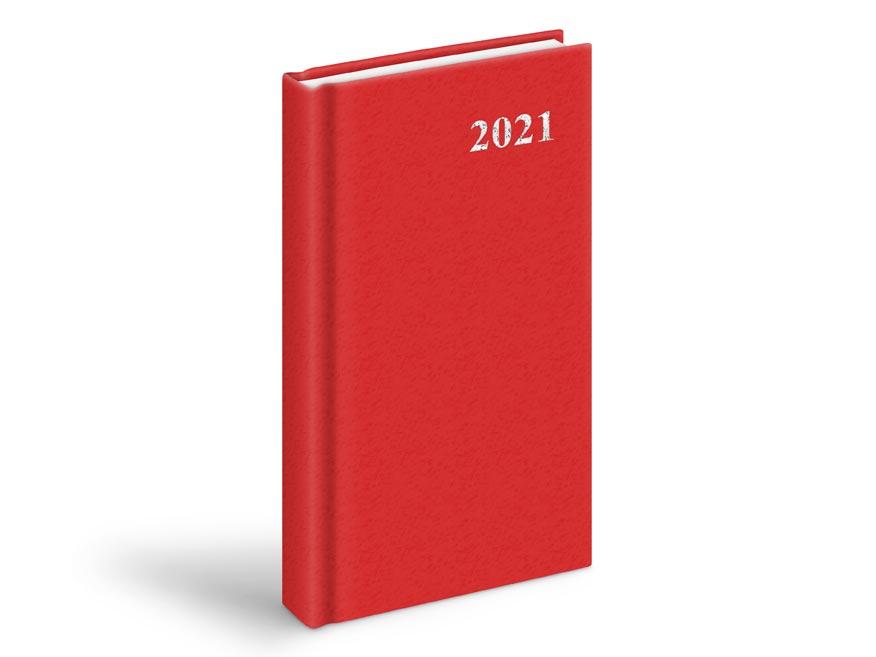 diár 2021 D802 PVC Red 90x170 mm 7781008