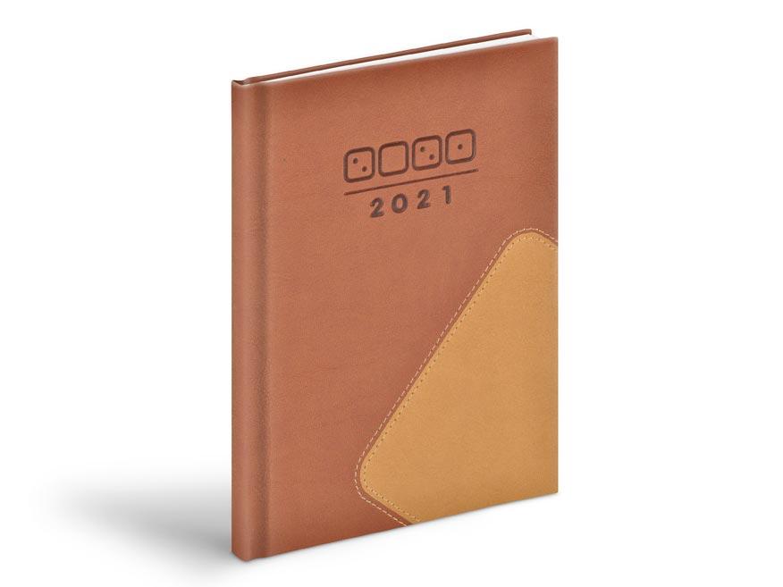 diár 2021 T805 PU brown / light brown 7781011