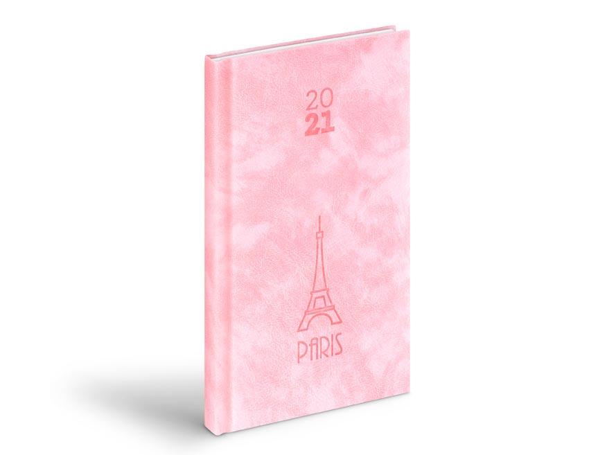 diár 2021 T806 PU pink 90x170 mm 7781022