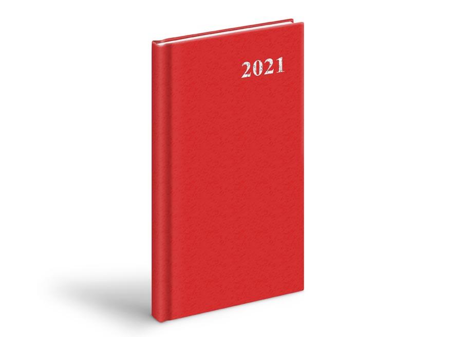 diár 2021 T806 PVC Red 90x170 mm 7781029