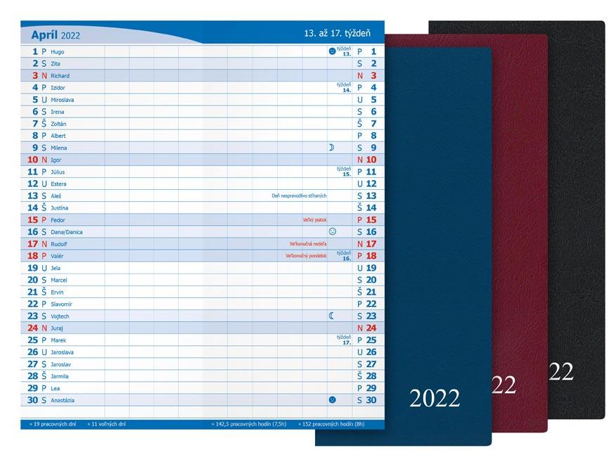 sK Diár 2022 M101/PVC mesačný 7781050