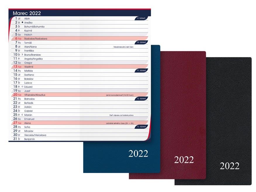 sK Diár 2022 M105/PVC mesačný 7781052