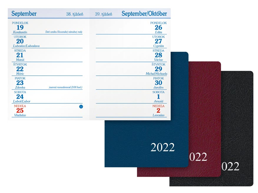 sK Diár 2022 T101/PVC týždenný 7781053