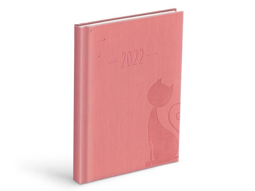 diár 2022 D801 PU pink 7781071