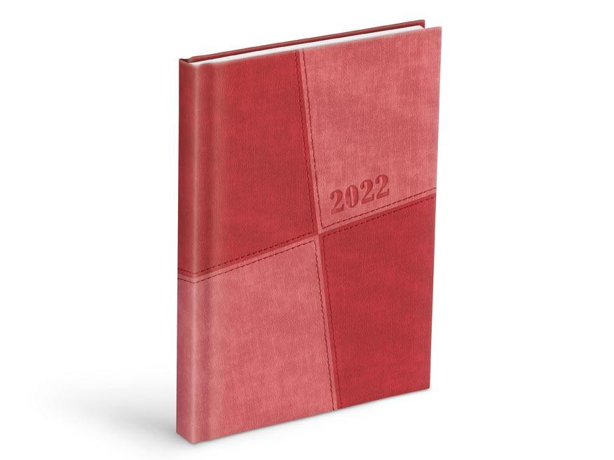 diár 2022 D801 PU light red / red 7781073