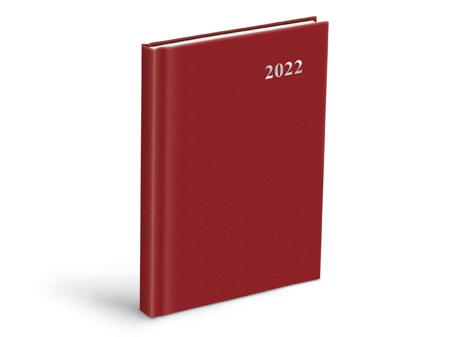 diár 2022 D801 PVC Red 7781078