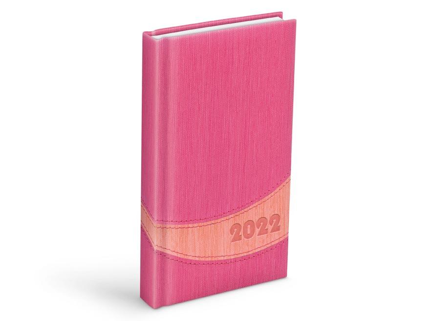 diár 2022 D802 PU pink / peach 90x170 mm 7781083