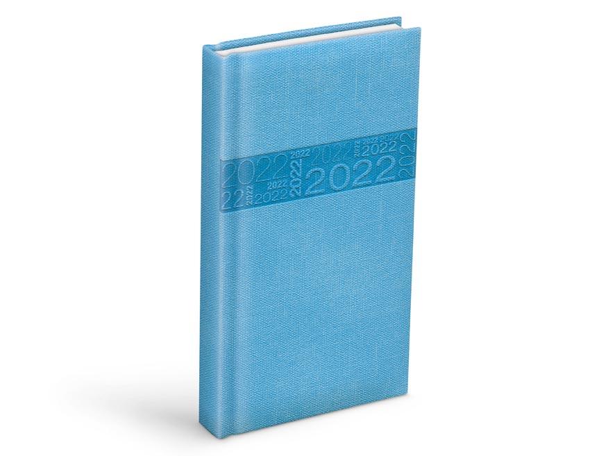 diár 2022 D802 PU blue 90x170 mm 7781085