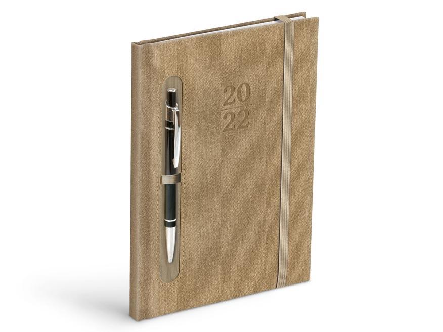 diár 2022 T805 PU brown / grey - for pen 7781097