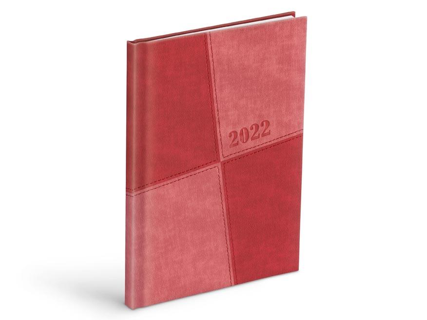 diár 2022 T805 PU light red /red 7781101