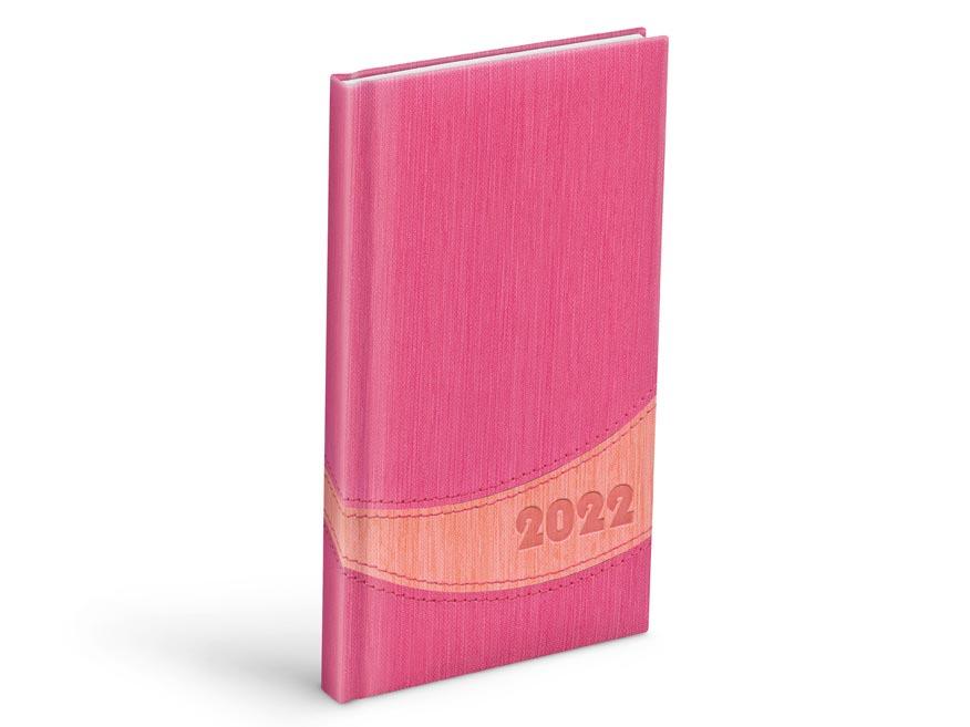 diár 2022 T806 PU pink / peach 90x170 mm 7781111