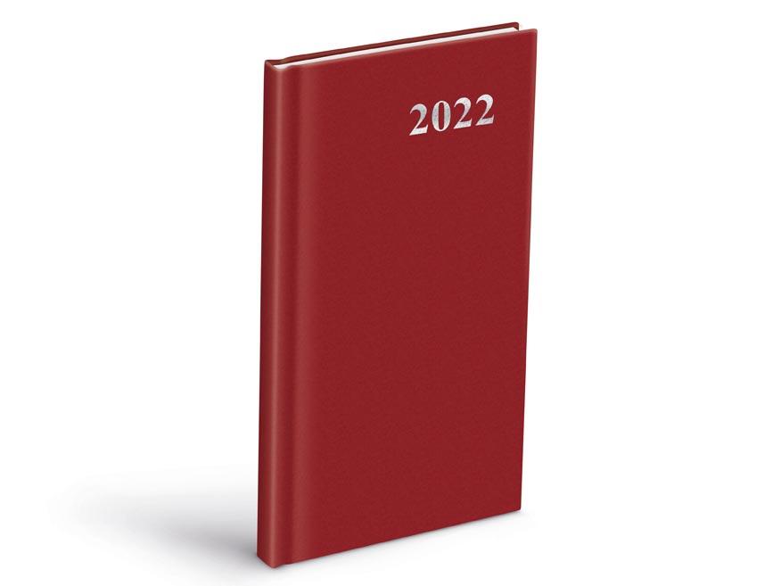diár 2022 T806 PVC Red 90x170 mm 7781118