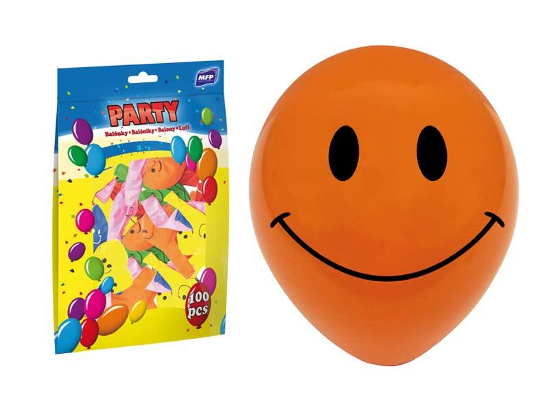 balónik M smile 30cm mix 8000107
