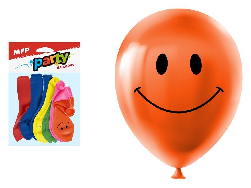 Balónik M balenie 12ks smile 23 cm mix