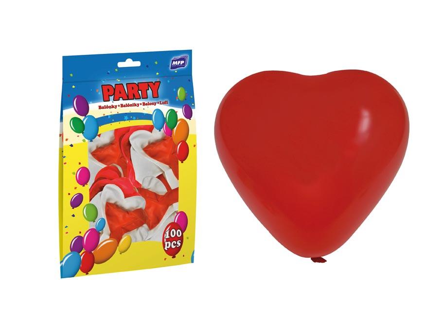 Balónik M srdce 30cm mix