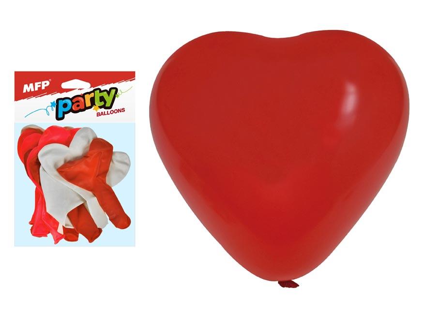 balónik M balenie 12ks srdce 30cm mix 8000110