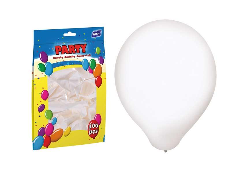 balónik M štandard 30cm biely 8000119